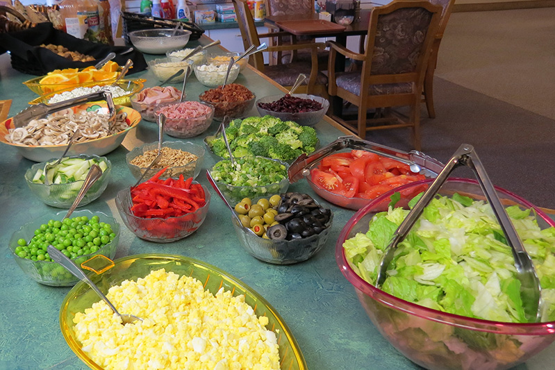 salad bar at Garden Cafe