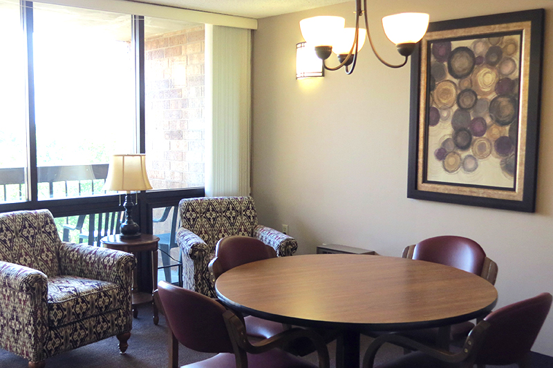 Talheim Apartments independent living common area